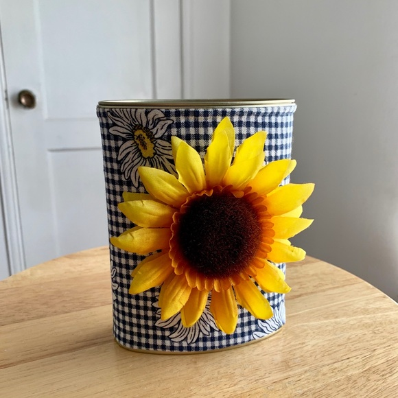 Other - Sunflower Tin Container